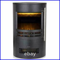 Curved Contemporary Stove with 3D Flame Effect F+F Delivery