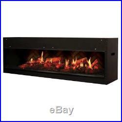 DIMPLEX NORTH AMERICA Opti-V Electric Fireplace, Black