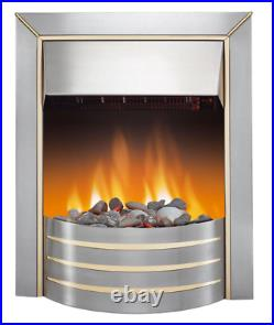 DIMPLEX SIVA CHROME EFFECT ELECTRIC FIRE With Minor Defects 1157