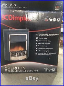 Dimplex Cht20 Cheriton Freestanding Fire Black & Brass Finish