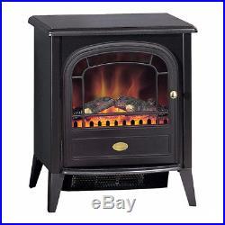 Dimplex Club 2kw Electric Fire Black Stove Heater Optiflame & Remote Control