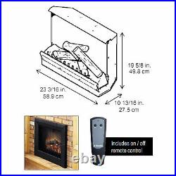 Dimplex Deluxe Fireplace Insert with Logs, 23-Inches