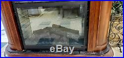 Dimplex Electric Fireplace DF3015 with Large Wood Mantle Surround