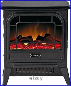 Dimplex Electric Micro-Stove, Steel, 1200W, Black Cast Effect, Optiflame Flame