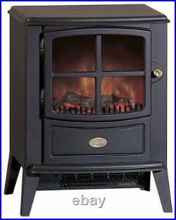 Dimplex Electric Stove Compact Optiflame Log Effect/Cast Iron Style Brayford