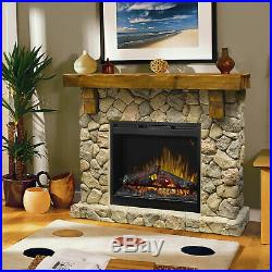 Dimplex Fieldstone Mantel Package with Electric Fireplace, 54.625