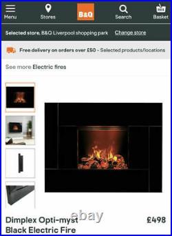 Dimplex Opti-myst Black Electric Fire