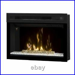 Dimplex PF2325HG Multi-Fire Xd 25 Electric Firebox with Glass Ember Bed, Black