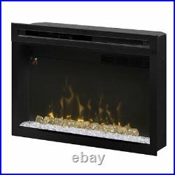 Dimplex PF3033HG Multi-Fire Xd 33 Electric Firebox with Glass Ember Bed, Black