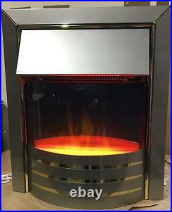 Dimplex Siva Stainless Steel Effect Electric Fire Siv20-e 7468