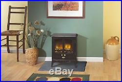 Dimplex Tango 2kW Electric Fan Heater Stove in Black With Optiflame