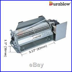 Durablow MFB004A UZY5 PUZY5 26180 Replacement Fireplace Dual Blower Fan Kit f
