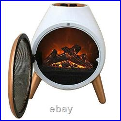 Electric 1.8KW LED Fire Log Free Standing Burning Flame Effect Fireplace Burner