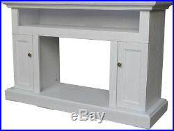 Electric Fireplace 47 in. Freestanding in White with Firebox and Remote Control