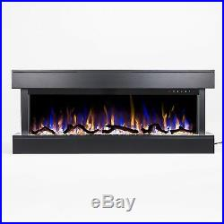 Electric Fireplace 50 3 Sided Wall Mount 80033 White Touchstone Home Products