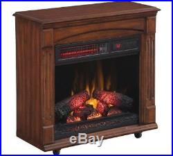 Electric Fireplace Infrared Quartz Living Room Bedroom Remote 5200 BTU Cherry