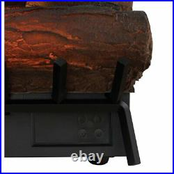 Electric Fireplace Logs Heater Living Room Fire Real Flame Adjustable Thermostat