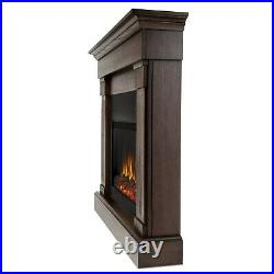 Electric Fireplace RealFlame Crawford Built In Look Heater Chestnut Oak