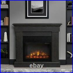 Electric Fireplace RealFlame Crawford Built In Look Heater Gray