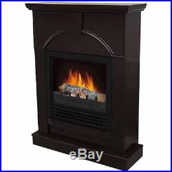 Electric Fireplace Room Heater Mantle Dark Brown Wood Finish Fire Place 3750 BTU