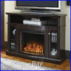 Electric Fireplace TV Stand Media Console Heater Entertainment Center Wood New