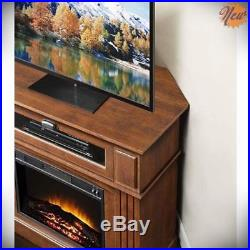 Electric Fireplace TV Stand Media Entertainment Heater Console Corner Cabinet