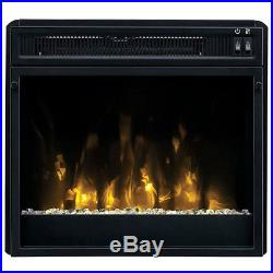 Electric Fireplace TV Stand White Media Wood Console Heater Entertainment Center
