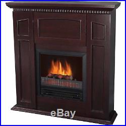 Electric Fireplace With 36 Mantle Storage Home Heating Decor Heater Chestnut