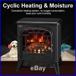 Electric Fireplace Wood Flame Heater Stove Living Room Log Burner Fan Effect UK
