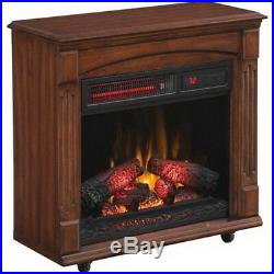 Electric Infrared Quartz Fireplace with Remote 5,200 BTU Heating Cherry NEW