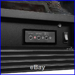 Embedded 28.5 Electric Insert Heater Fireplace Log Flame with Remote View