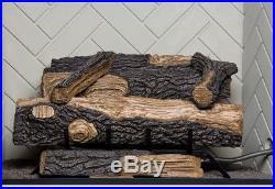 Emberglow Oakwood Vent Free Propane Gas Fireplace Logs Fire Log Set Thermostat