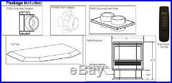 Empire Mantis Bay Window Pedestal Gas Fireplace Most Efficient at 90%+