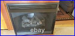 Empire Vail Premium 36 Penisula see through ventless gas fireplace with Log set