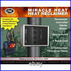 Enhances Heating Miracle Blower Wood Stove Fireplace Fan Ensuring Quiet use