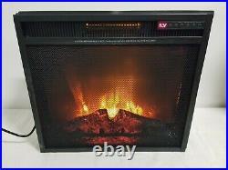 FEBO 23 Mesh Front Electric Firebox Insert w Fan Heater Glowing Logs Fireplace
