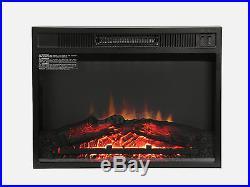 Fireplace 23 Electric 1500W Heater Insert Room Firebox Glass Logs Freestanding
