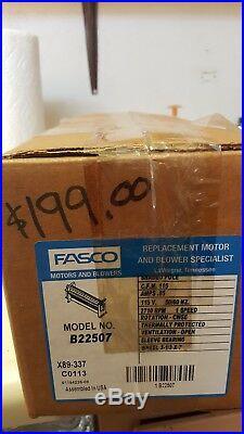 Fireplace BLOWER Fan B22507 Fasco Transflow Direct Drive Motor Squirrel Cage