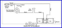 Fireplace Blower Fan Kit with Ball Bearings Motor for Heat N Glo GTI Rotom Stove