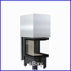 Fireplace Insert TFA8-HLRF 50/50 8kW 3 Side Glass Hochschiebbar