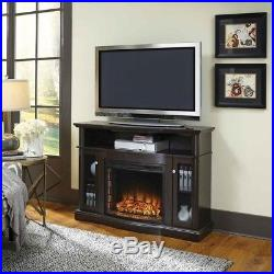 Fireplace TV Stand Electric Media Entertainment Console Heater Forced Air LCD