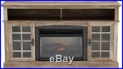 Fireplace TV Stand Media Center 60 in. Infrared Electric LED Flame Freestanding