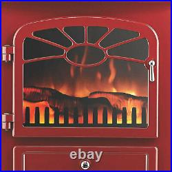 Focal Point Burgundy Red Electric Fire Stove, 1.85KW Heat Output ES2000 Burgandy