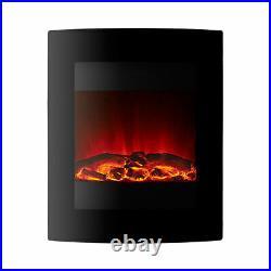 Focal Point Ebony LED Electric Wall Hung Fire 1.5kW Black EBONY-LED