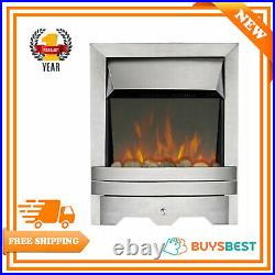 Focal Point Fires Lulworth LED Reflections Inset Electric Fire Stainless Steel