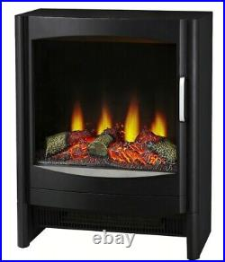 Focal Point Gothenburg Electric Stove in Black