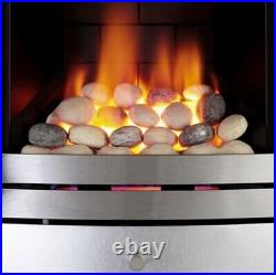 Focal Point Lulworth Brushed Stainless Steel Effect Gas Fire