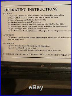 Harman P61 Pellet Wood Stove Harmon Fireplace Slightly Used Benefits Charity