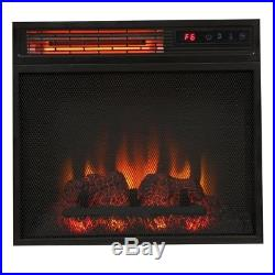 Highland 50 in. Faux Stone Mantel Electric Fireplace in ...