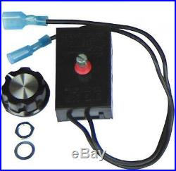 Hongso Fireplace Stove Blower Fan Variable Rheostat Speed On/Off Switch